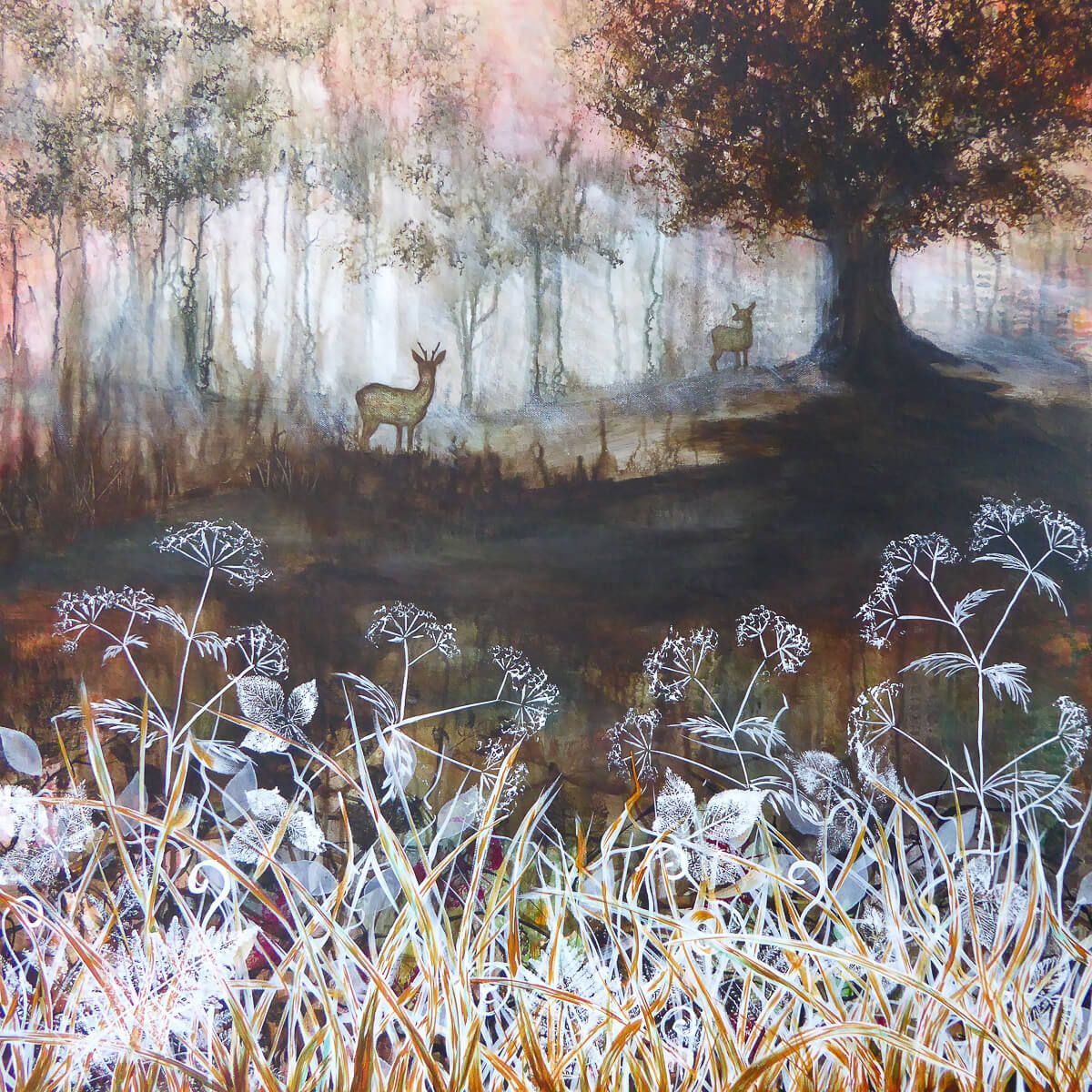 Commisioned forest scene painting by Bron Jones